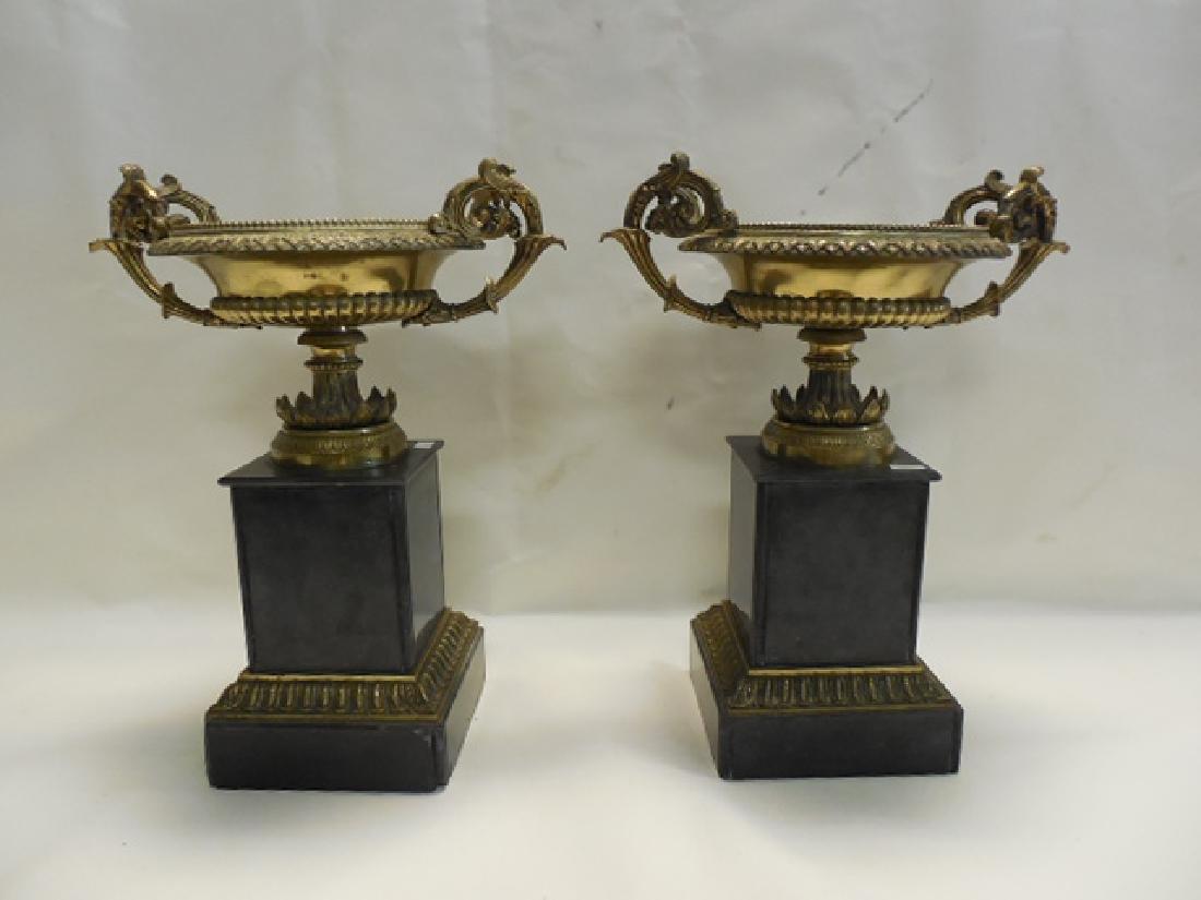 Pr (2) Bronze Mounted Urns