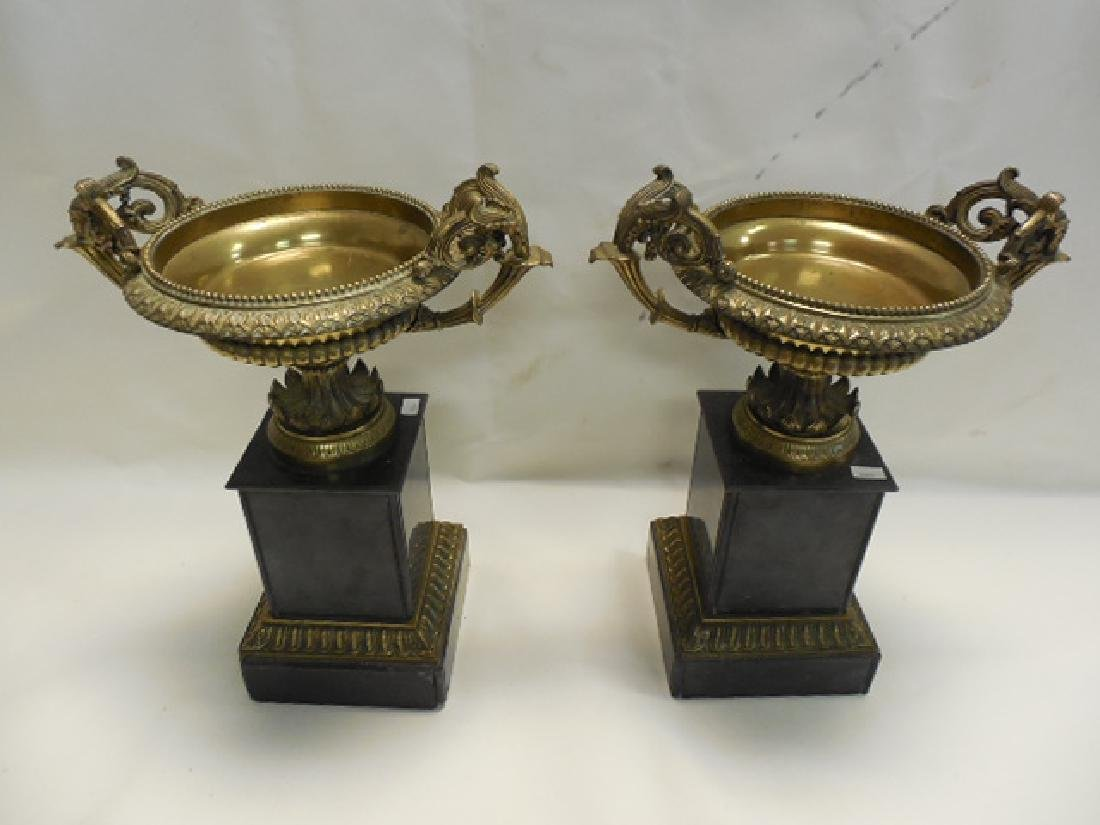 Pr (2) Bronze Mounted Urns - 2