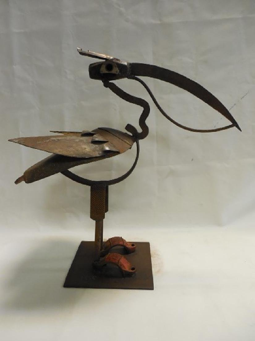 "Iron Bird Sculpture ""Pelican"" by Bill Heise"