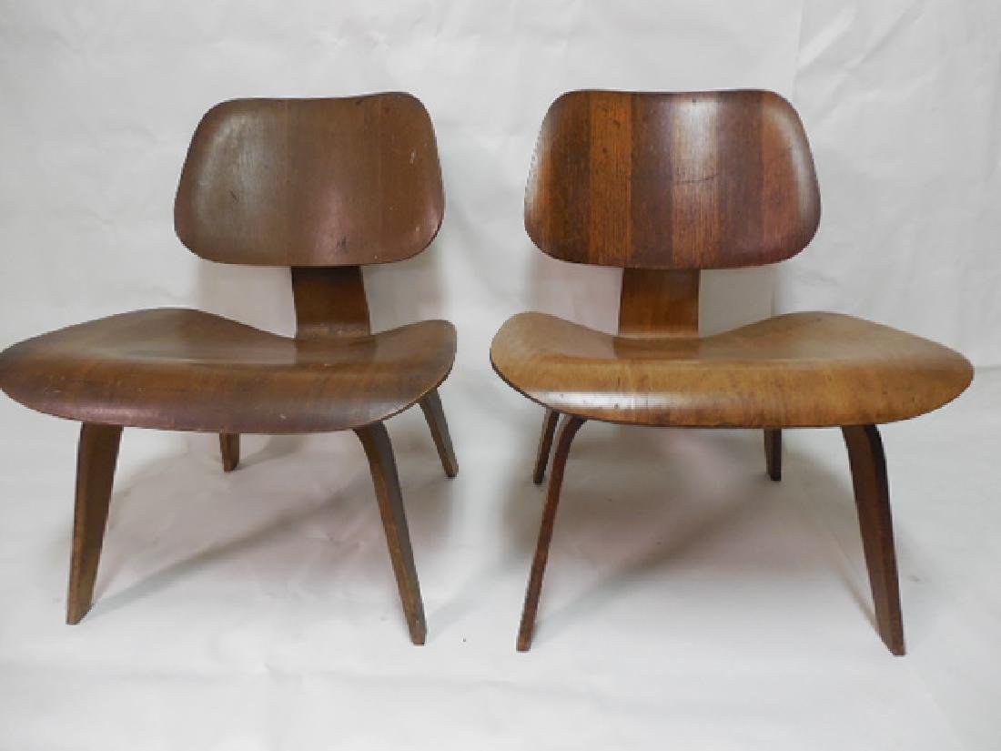 Pair (2) Early Eames LCW Chairs