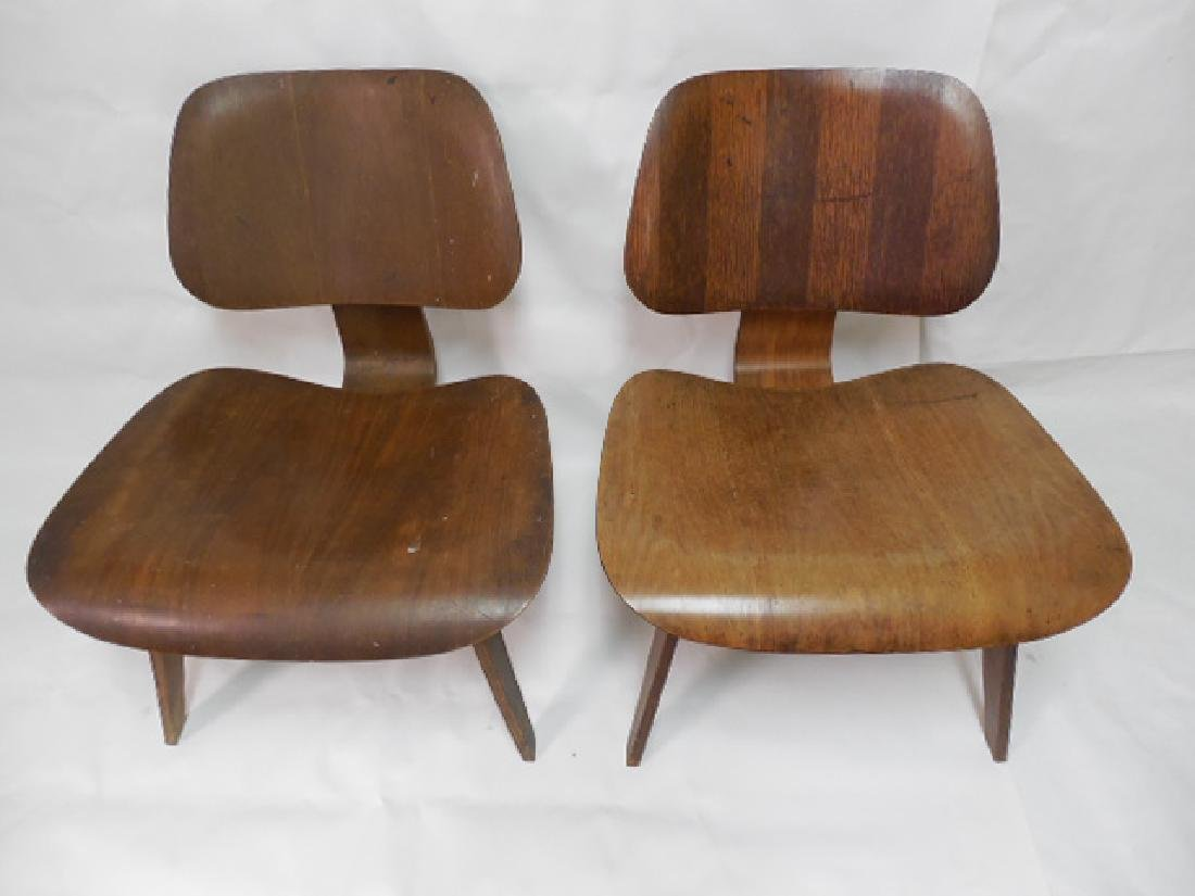 Pair (2) Early Eames LCW Chairs - 2