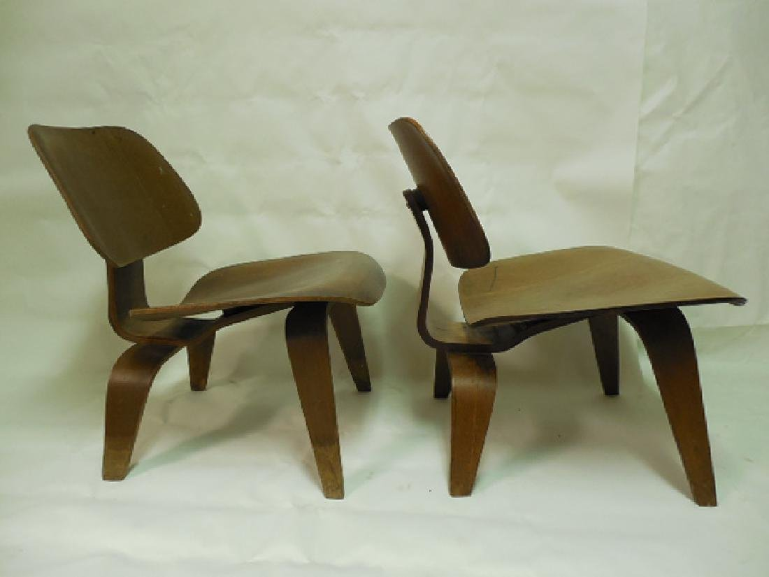 Pair (2) Early Eames LCW Chairs - 3