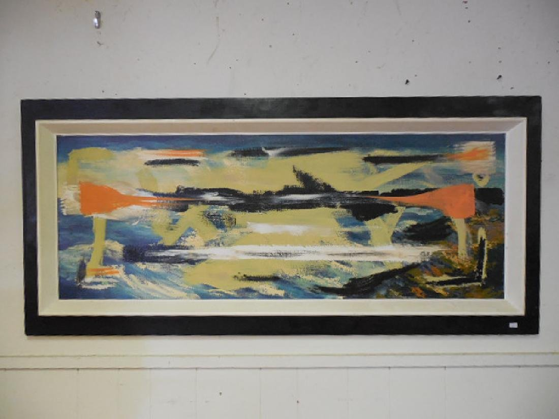 Mid Century Abstract Oil/Board