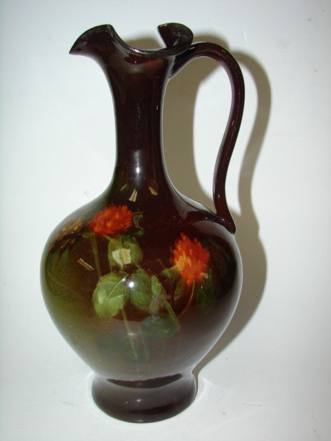 76: Ohio Pottery Std Glaze Ewer