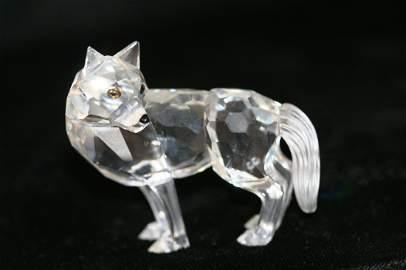 28: Swarovski Crystal Wolf