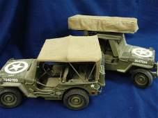 122: 2 Danbury Mint Army Jeeps