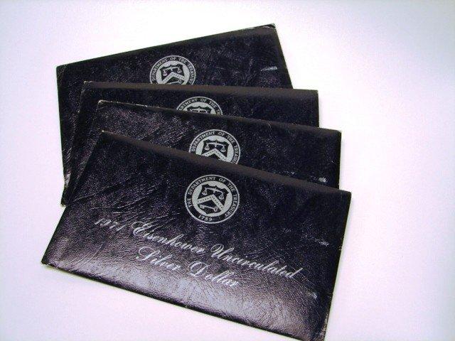 1: 4 1971 Eisenhower UC Silver Dollars