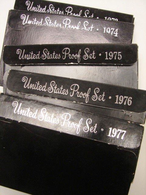 11: Lot, 5 Proof sets 1973-77