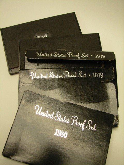 12: Lot, 5 US Proof Sets, 1978-80