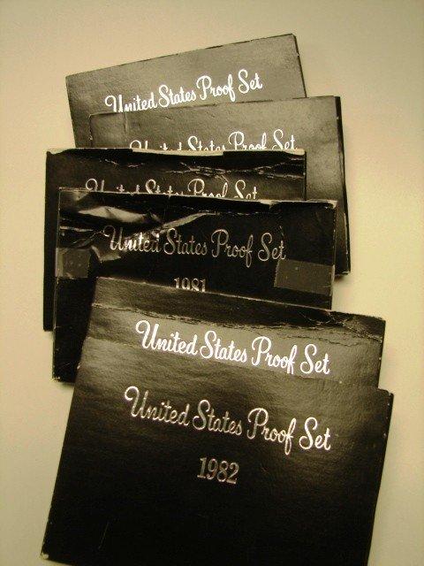 13: Lot, 6 US Proof Sets, 1980-82