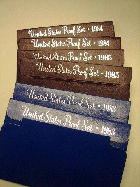 14: Lot, 6 US Proof Sets, 1983-85