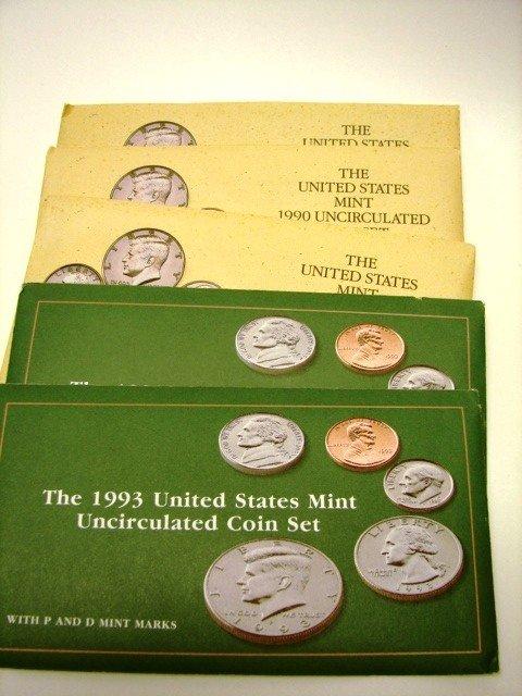 15: Lot, 10 UC US Mint Coin Sets