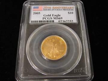 58: 2005 American Gold Eagle $10