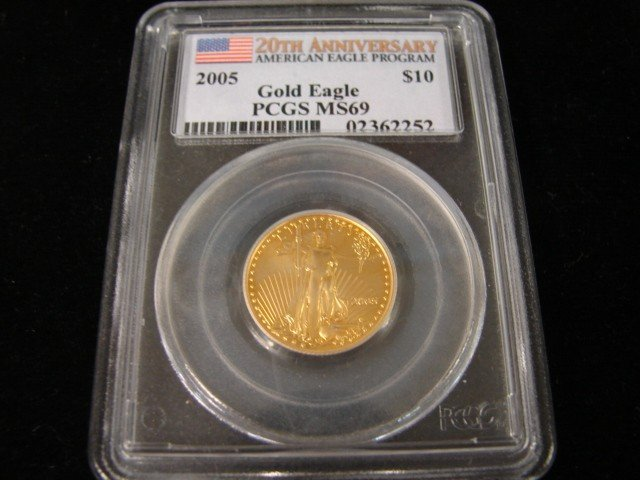 58: 2005 American Gold Eagle $10