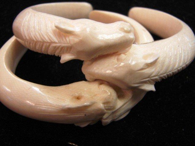 61: Carved elephant ivory