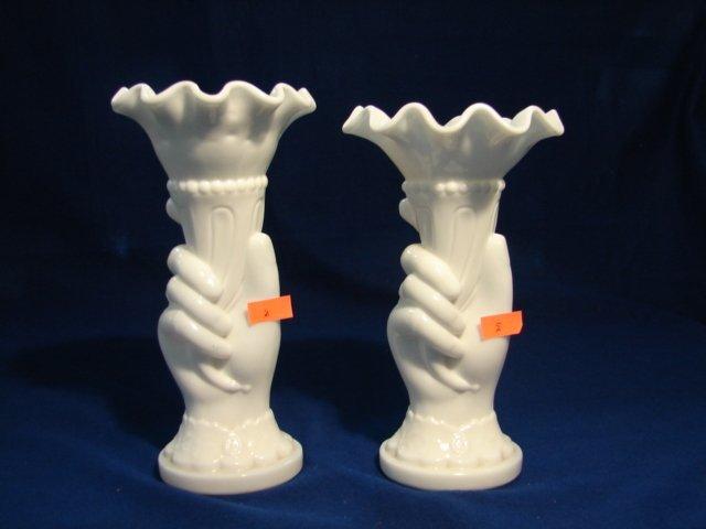 5: WM Pair Hand Vases