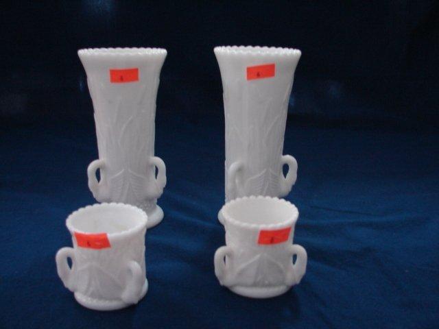 6: WM Swan Vases & Toothpicks