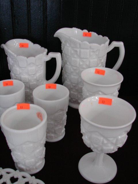 13: WM Old Quilt Juice Set Lot