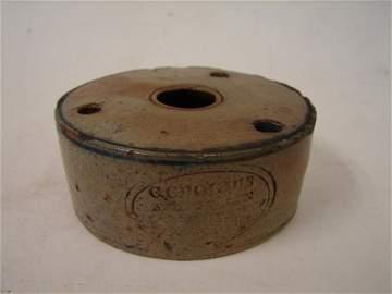 8: American Stoneware , C. Crolins, NY, Inkwell