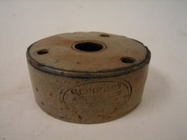 8: American Stoneware , C. Crolins, NY, Inkwell