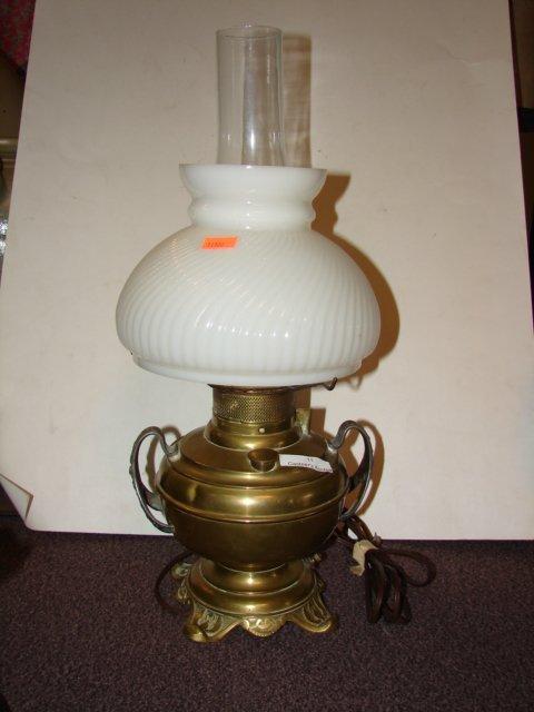 11: Brass Banquet Lamp