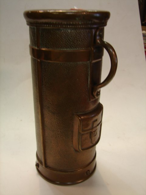 15: Cast Copper, cemetary vase