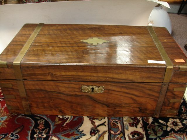 16: Rosewood and Brass Lap Desk