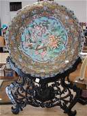 18: Qing Dynasty, Cloisonne Charger