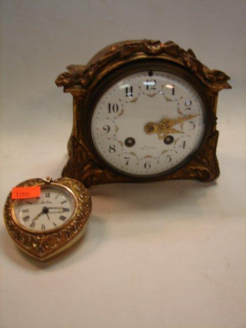 23: 2 Brass Clocks