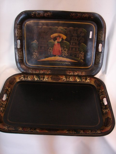 22: Two Butler Trays, Painted Bd