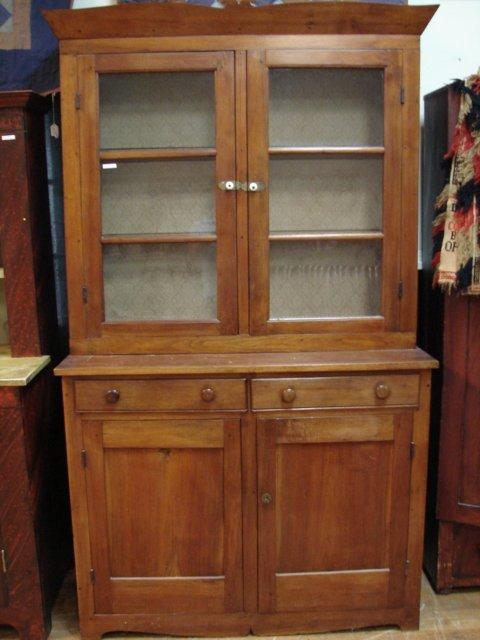 360: Antique Step Back Cupboard, American Walnut - Antique Step Back Cupboard, American Walnut