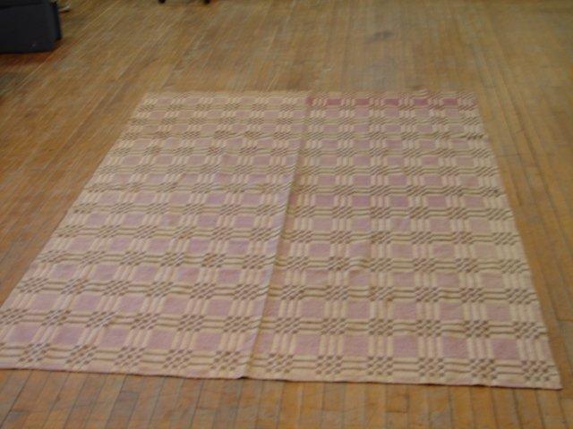 3: Overshot checkerboard, rare mauve, green, white colo