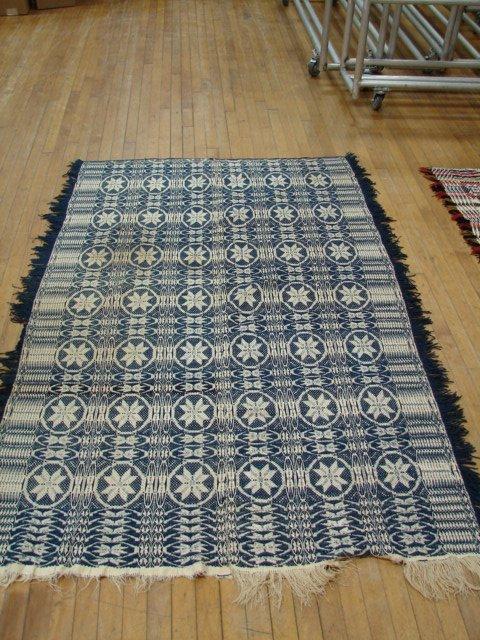 7: Jacquard blue & white ornate star pattern,
