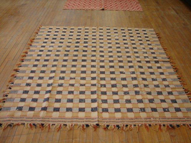 9: Overshot Checkerboard design, reversible,