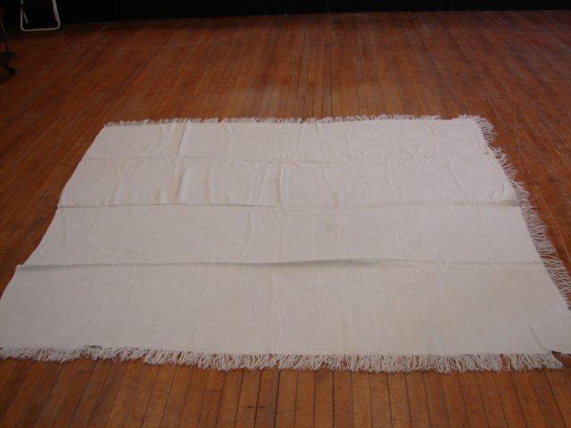 15: Lot of 2 Overshot, white on white, linen,