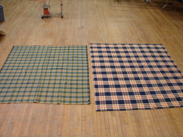 16: Lot of 2 Woolen Loomed Blankets,