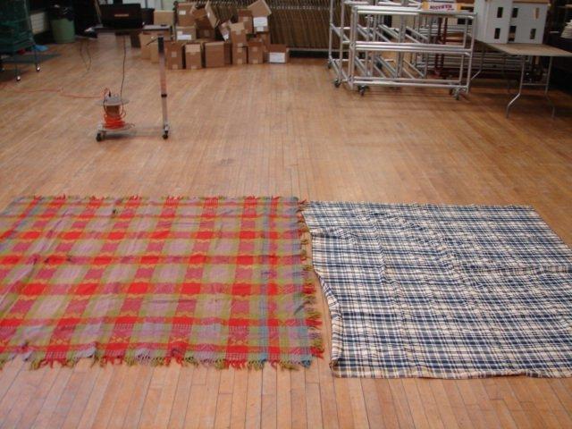 17: Lot of 2 , Wool Blanket & Coverlet,