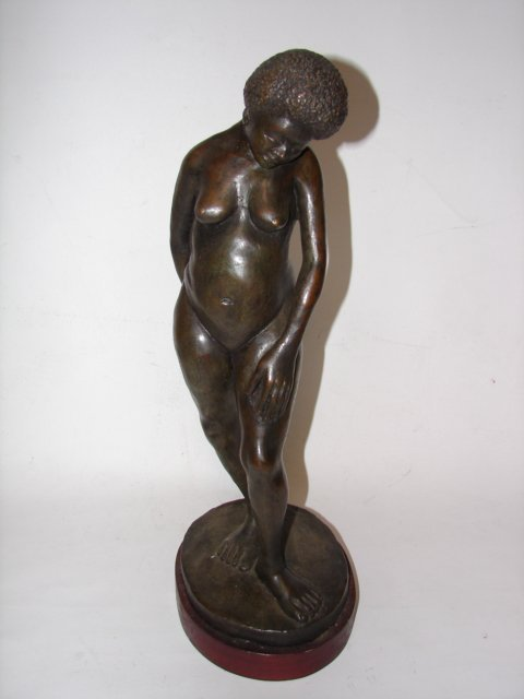 20: Bronze Figure of African Women
