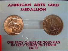 166: Lot (2) Gold Coins 1 troy ounce each
