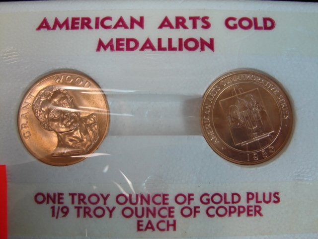 166: Lot (2) Gold Coins 1 troy ounce each