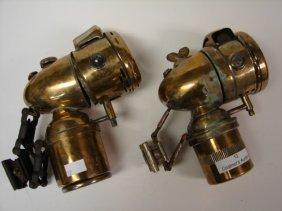 Lot (2) Brass Bicycle Lanterns