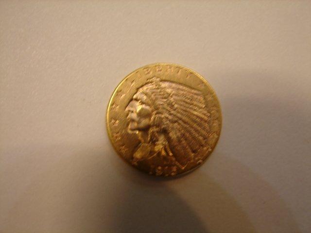 Liberty, 1915, 2.5 dollar gold coin