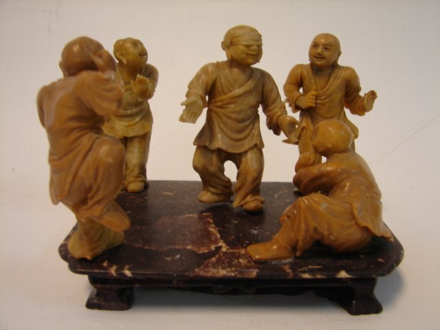Chinese Figural soapstone group