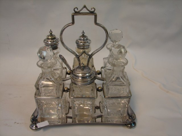 Silver Plate Condiment Set