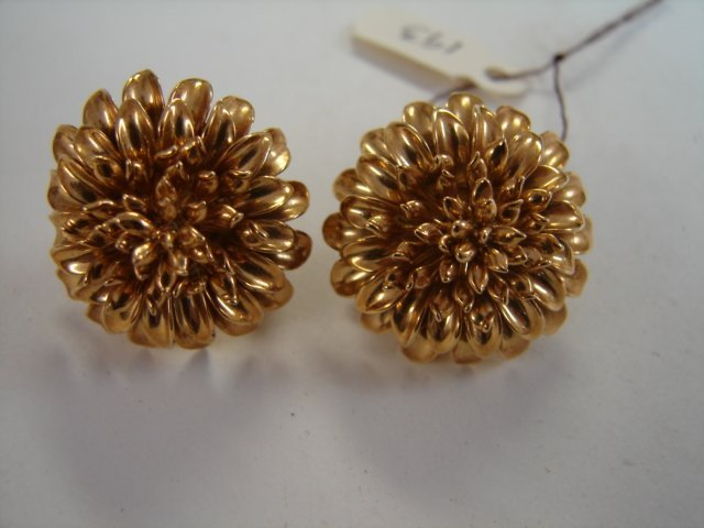 Pr Tiffany & Co Gold Earrings