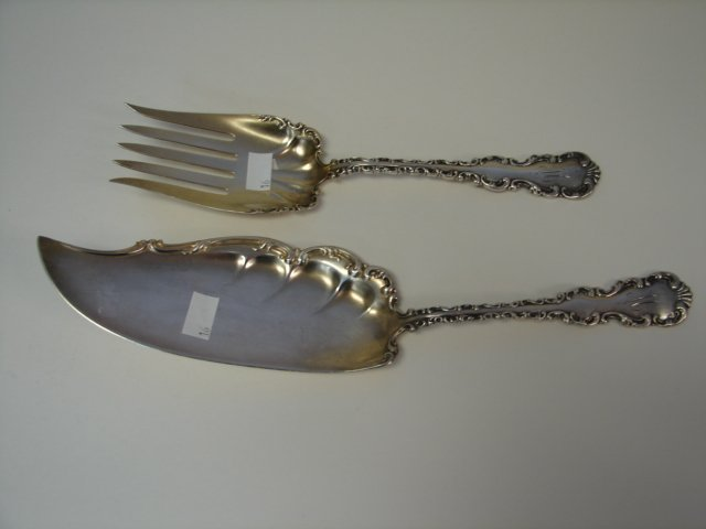 2 Sterling Serving Peaces