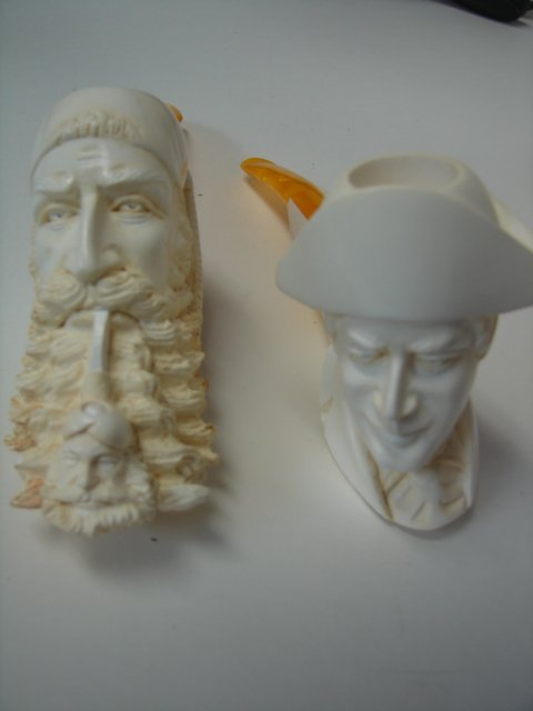 Lot Of 2 Meerschaum Pipes