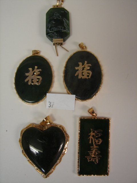 5 Jade Pendants