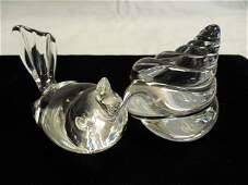 2 pieces Steuben Crystal