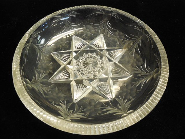 Tuthill Cut Glass Bowl & Amethyst Candlestick - 2